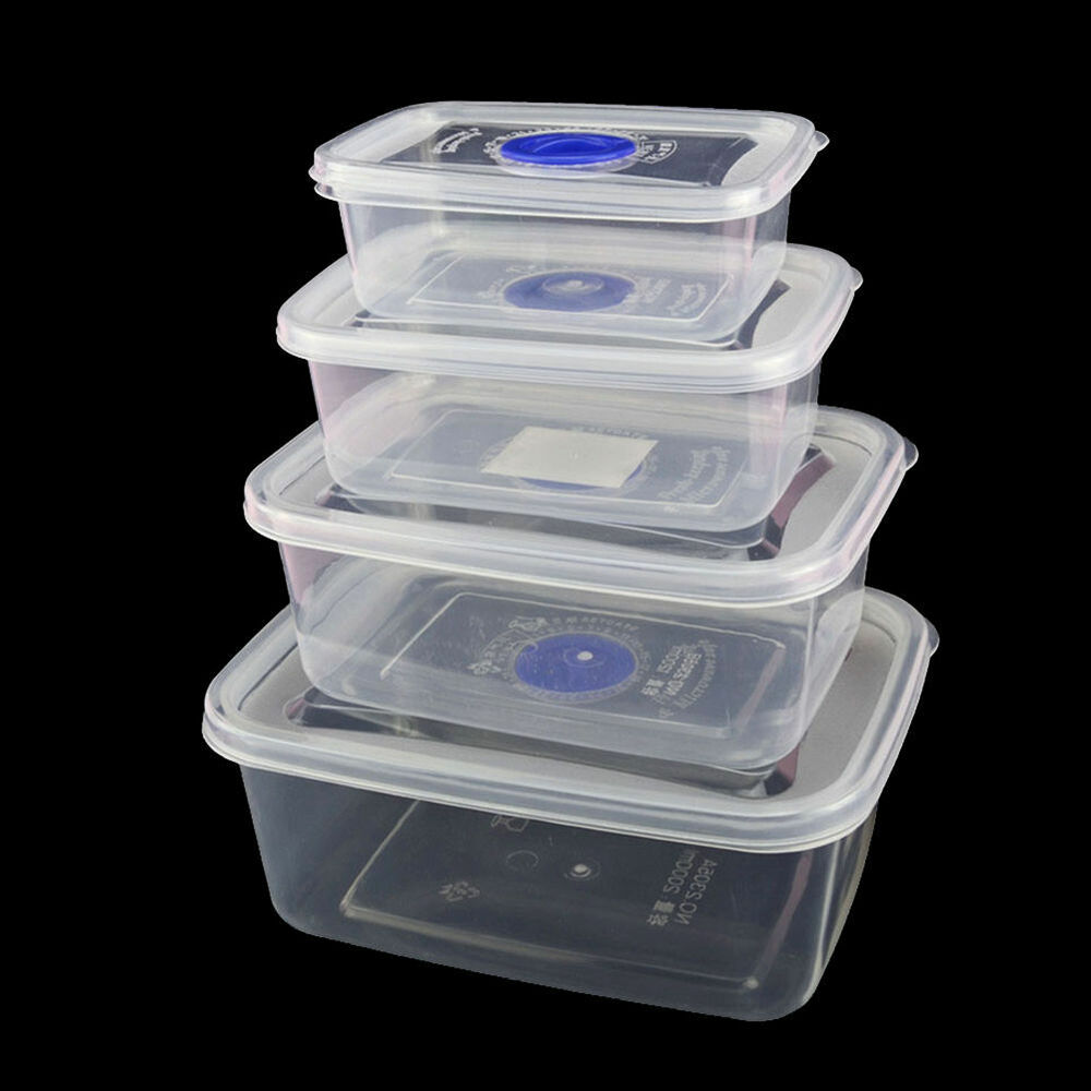 microwave safe plastic takeaway food containers reusable storage lunch box case ebay. Black Bedroom Furniture Sets. Home Design Ideas