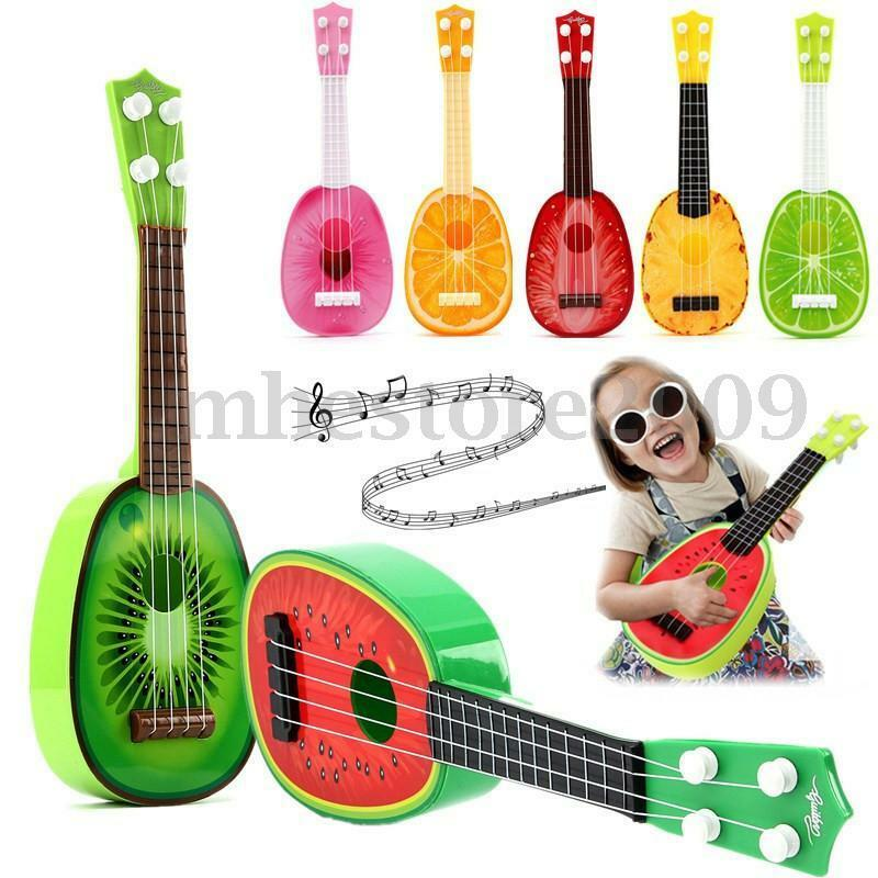 kids children gift 4string guitar development music instrument toy fruit ukulele ebay. Black Bedroom Furniture Sets. Home Design Ideas