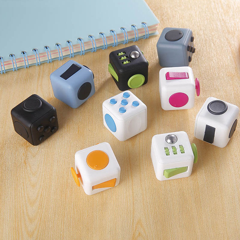 in stock fidget cube 2016 xmas children toy adults stress. Black Bedroom Furniture Sets. Home Design Ideas