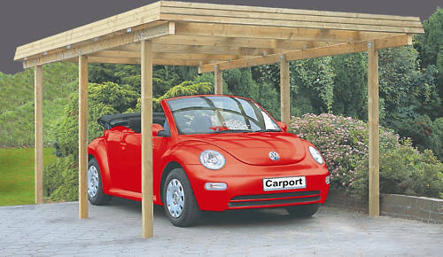 carport richie 300x500 cm einzelcarport garage holz unterstand flachdach neu ebay. Black Bedroom Furniture Sets. Home Design Ideas