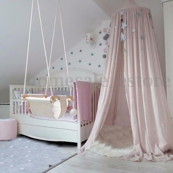 Pink Canopy Bed Netting Mosquito Bedding Net Baby Kids ...