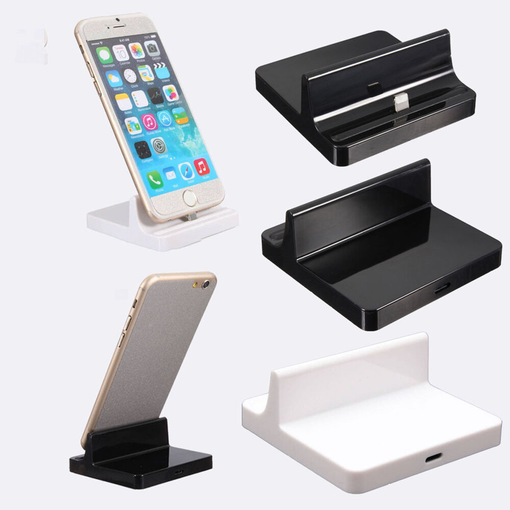 charger cradle desktop usb dock stand data sync laptop port for ipad iphone ebay. Black Bedroom Furniture Sets. Home Design Ideas