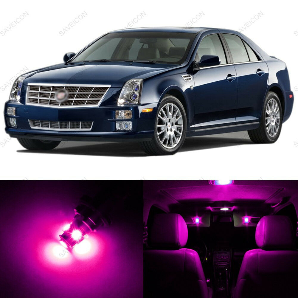 9 X Pink Purple Led Interior Light Package For 2005 2011
