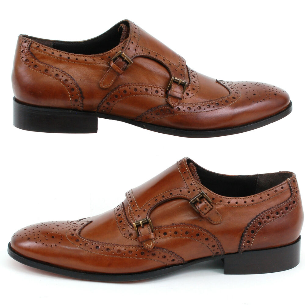 Mens Double Monk Strap Shoes