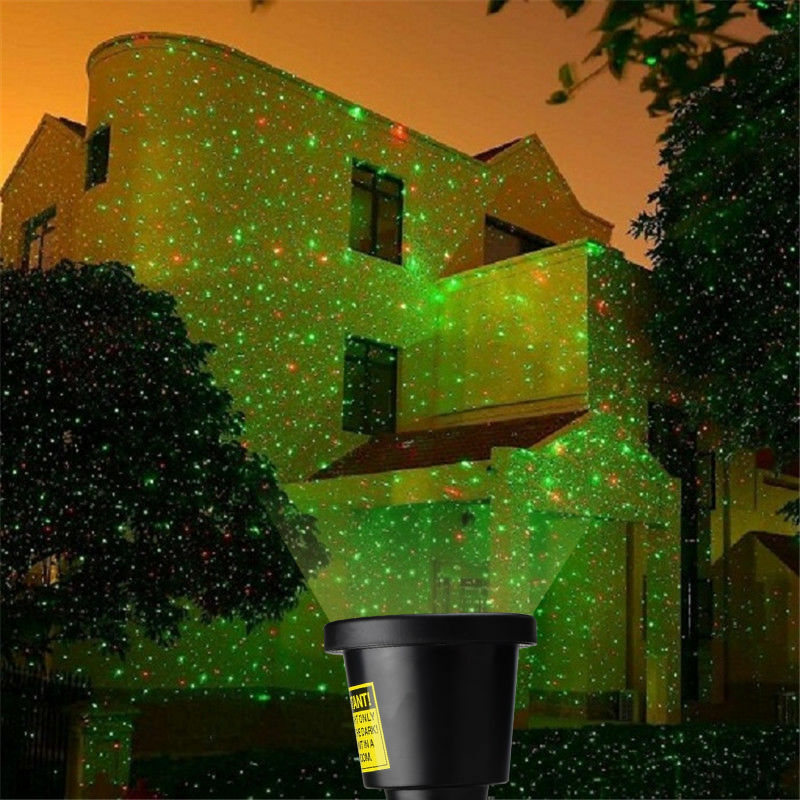 outdoor waterproof red green stars projector laser light show home. Black Bedroom Furniture Sets. Home Design Ideas