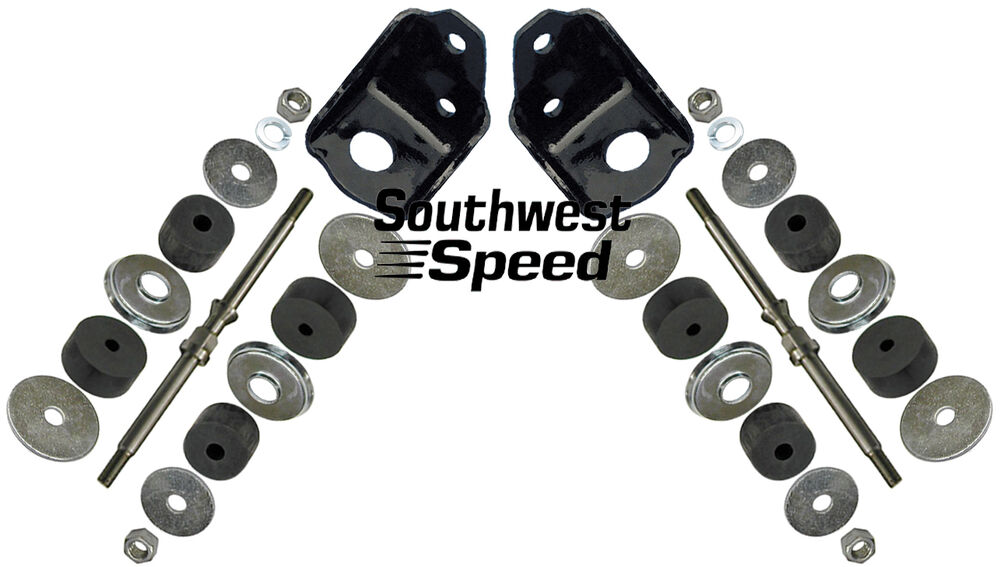 New 1955 57 Chevy Front Engine Mounting Kit Sbc V 8 Black