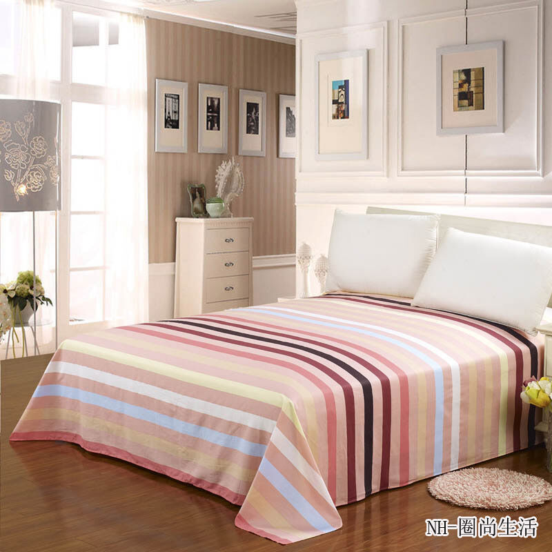 single double queen king size bed 1pc flat sheet printed 100 cotton 2023139 ebay. Black Bedroom Furniture Sets. Home Design Ideas