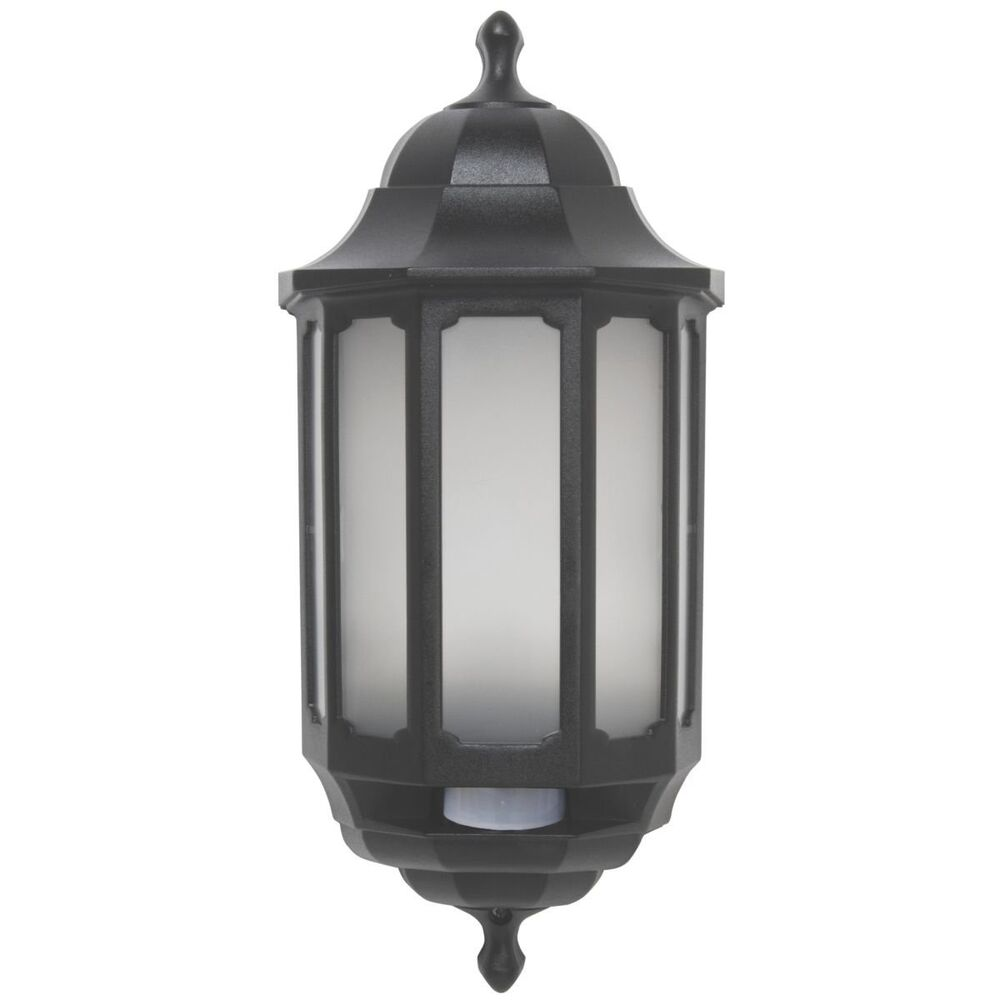 Led Wall Lights Outdoor: ASD LED Hi-Lo Half Lantern Outdoor Wall Light With PIR