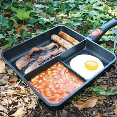 Multi Section Frying Pan Carp Fishing Tackle Camping Non