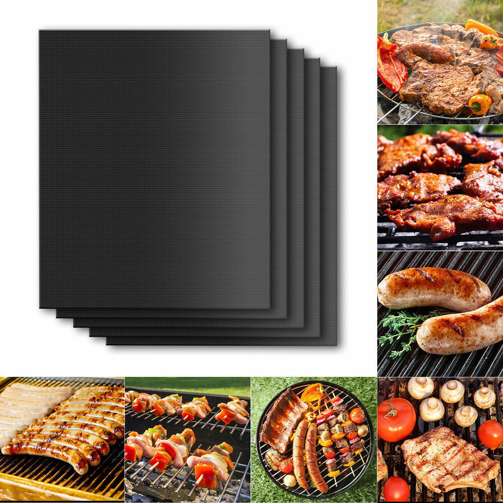 Reusable Non-stick Black BBQ Grill Mat Barbecue Baking