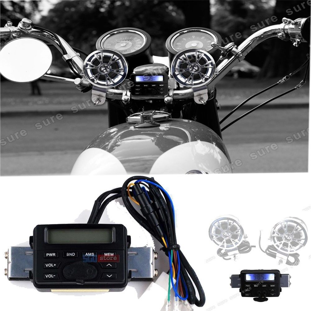 Waterproof Motorcycle Audio Fm Mp3 Radio Sound System