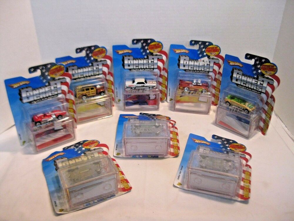 Hot Wheels Toy Car Holder Case : Hot wheels mattel connect states cars in display cases