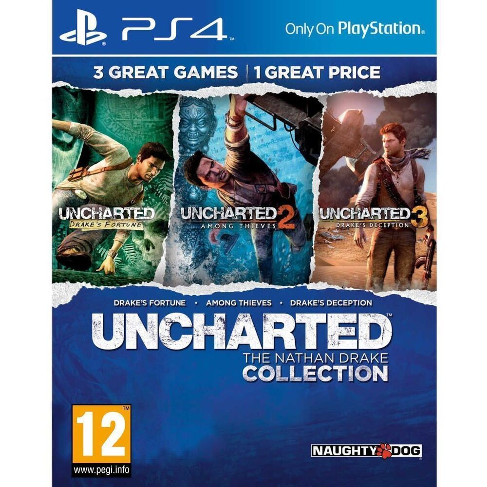 uncharted the nathan drake collection ps4 new and sealed ebay. Black Bedroom Furniture Sets. Home Design Ideas