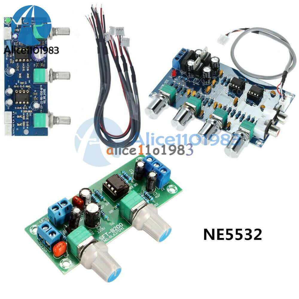 NE5532 Stereo Subwoofer Preamp Tone Control DIY Amplifier