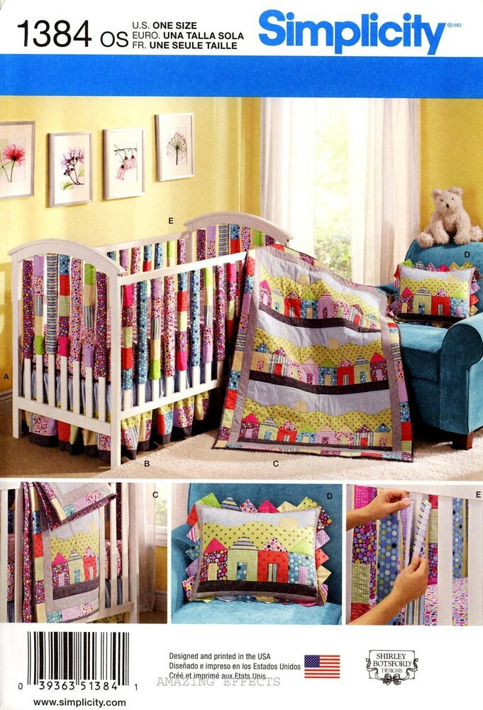 Crib Bedding Sewing Patterns Simplicity