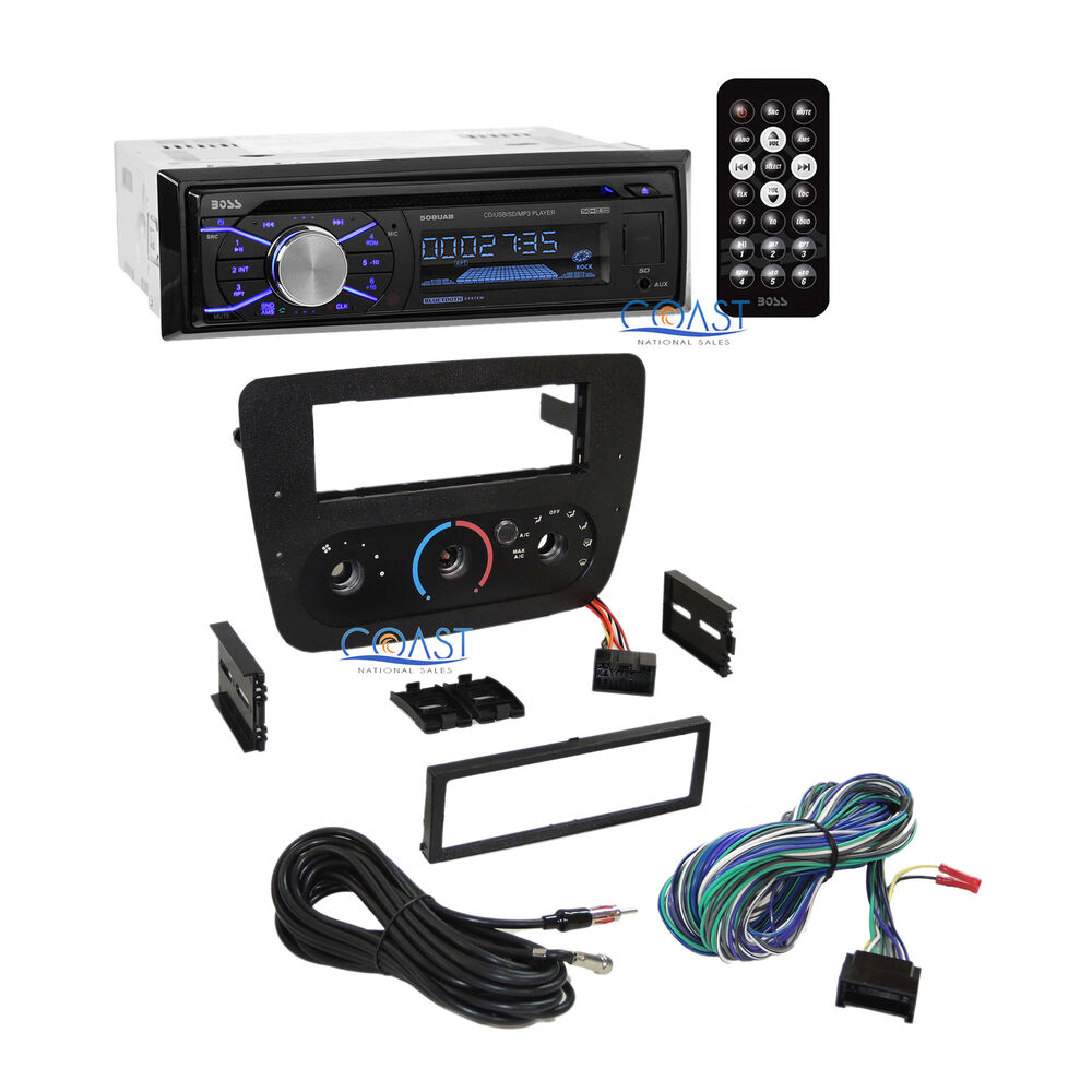 boss car radio stereo dash kit harness for 2000 2007 ford. Black Bedroom Furniture Sets. Home Design Ideas
