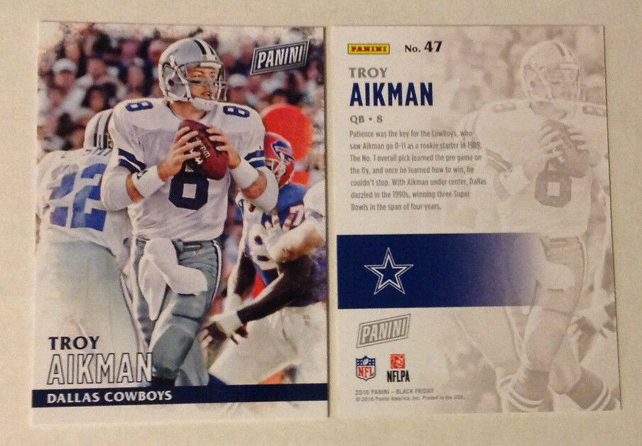 reputable site fcb6d 1385d 2016 Panini Black Friday Promotion TROY AIKMAN Cowboys #47 | eBay