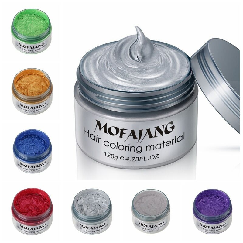 New Men One Time Molding Paste Hair Dye Wax Harajuku