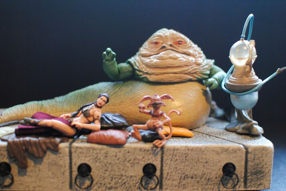 Star Wars Jabba the Hutt Throne Huka Palace ROTJ VC64 ... Jabba The Hutt And Leia