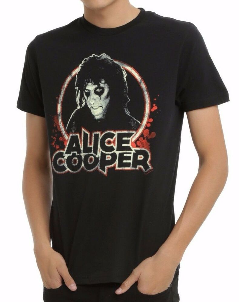 Classic Book Cover Tee Shirts ~ New alice cooper portrait book vintage classic rock