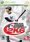 Major League Baseball 2K6 (Microsoft Xbox 360, 2006)