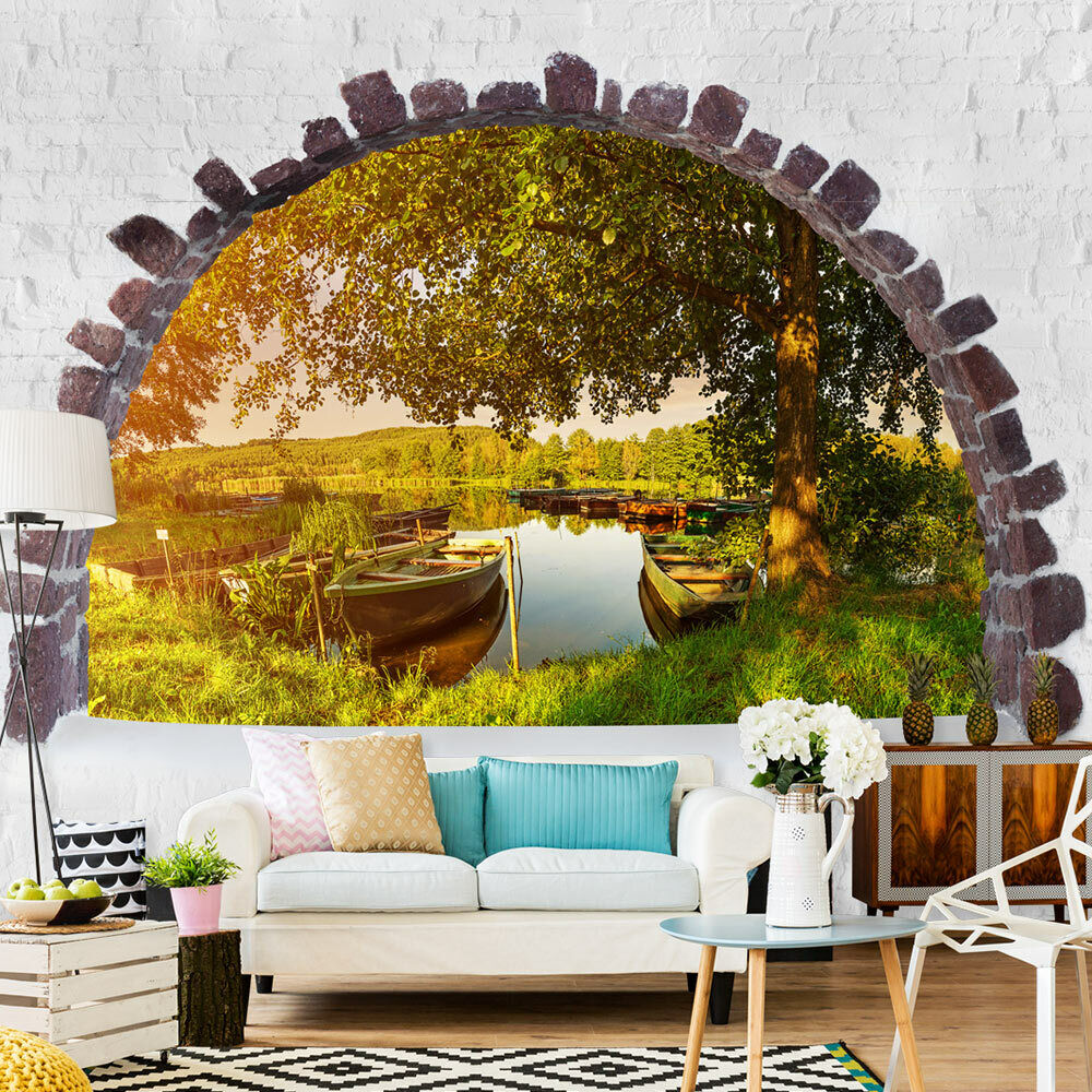 fototapete ausblick vlies tapeten fenster blick wandbilder xxl boot c c 0123 a a ebay. Black Bedroom Furniture Sets. Home Design Ideas