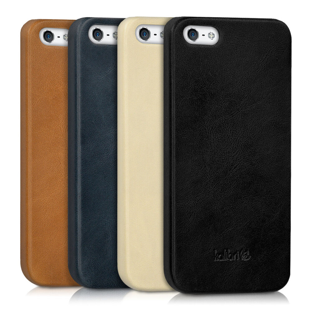 leder h lle f r apple iphone se 5 5s handy cover case tasche schutzh lle ebay. Black Bedroom Furniture Sets. Home Design Ideas