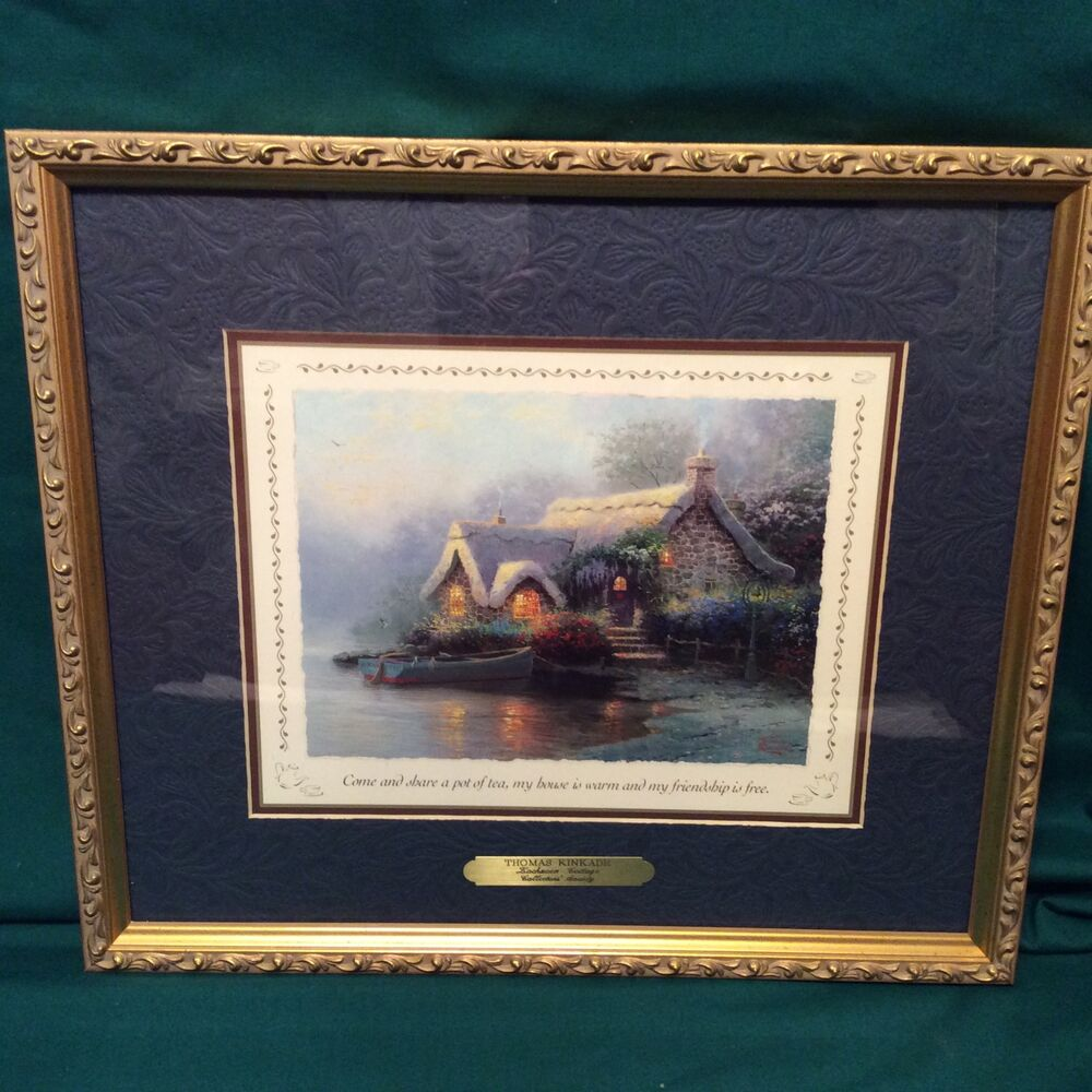 Thomas Kinkade Lockhaven Cottage Accent Print Framed With
