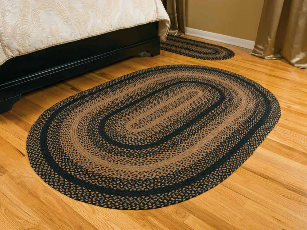 ihf home decor 22 x 72 braided oval area carpet rug