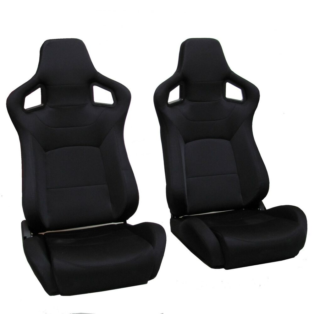 black svx style reclining bucket style seats land rover defender interior 90 110 ebay. Black Bedroom Furniture Sets. Home Design Ideas