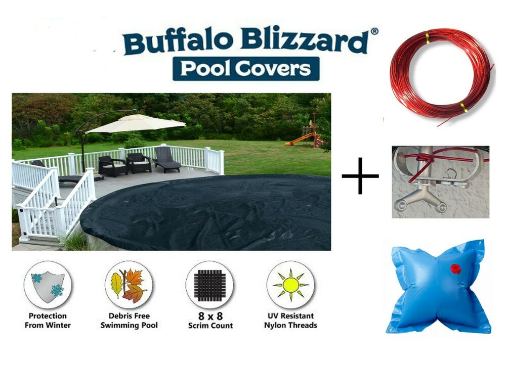 Deluxe Round Oval Above Ground Swimming Pool Winter Pool Covers W 4x4 Pillow Ebay