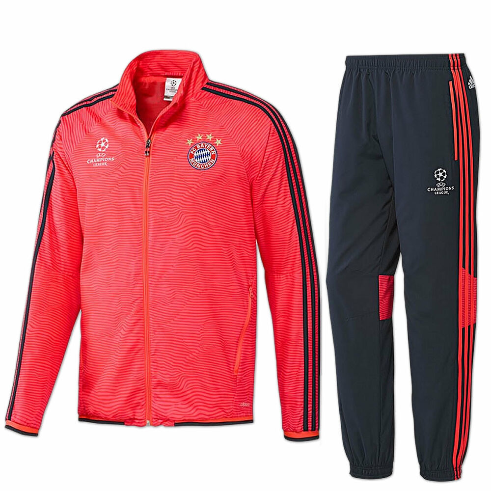 adidas trainingsanzug fc bayern m nchen champions league. Black Bedroom Furniture Sets. Home Design Ideas