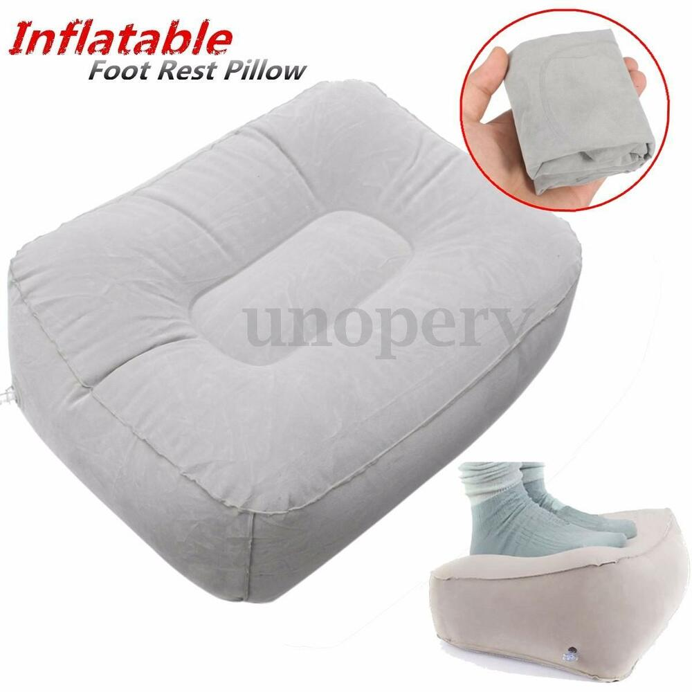 Inflatable Beds With Legs: Car Flight Travel Home Portable Inflatable Foot Rest Pad