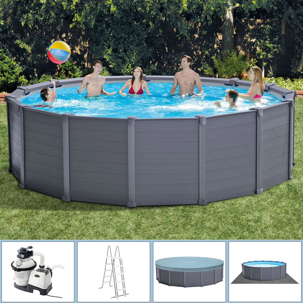 intex 478x124 frame swimming pool schwimmbecken schwimmbad. Black Bedroom Furniture Sets. Home Design Ideas