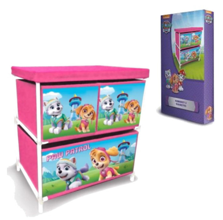 Paw Patrol Kids Toy Organizer Bin Children S Storage Box: Paw Patrol Toy Box Childrens Kids 3 Drawer Games Storage