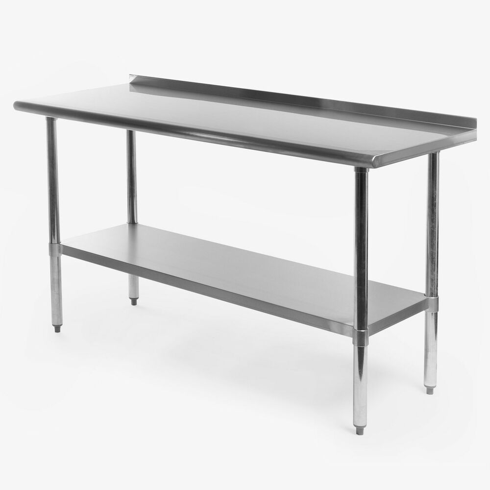 Stainless steel kitchen restaurant prep work table with for Table cuisine 60 x 80