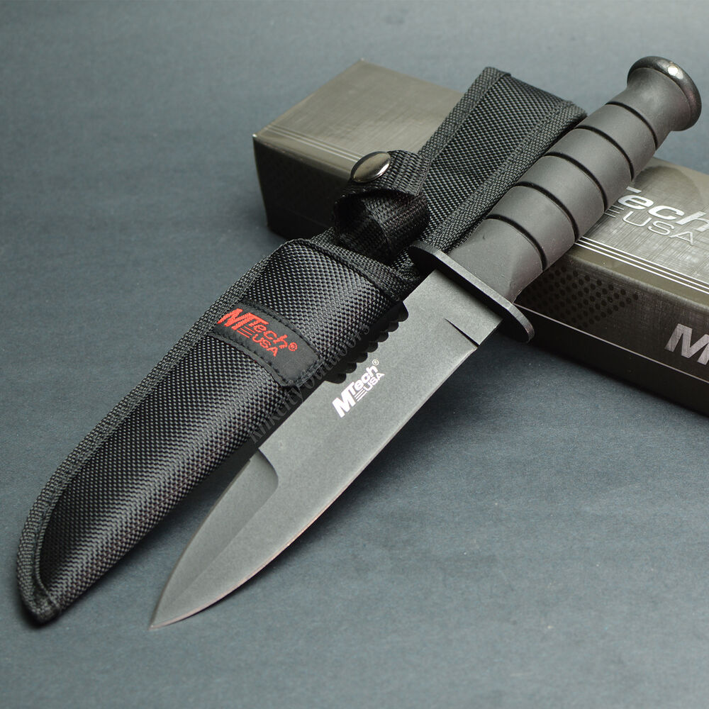 Mtech 10 1 2 Quot Black Coated 440 Stainless Fixed Blade