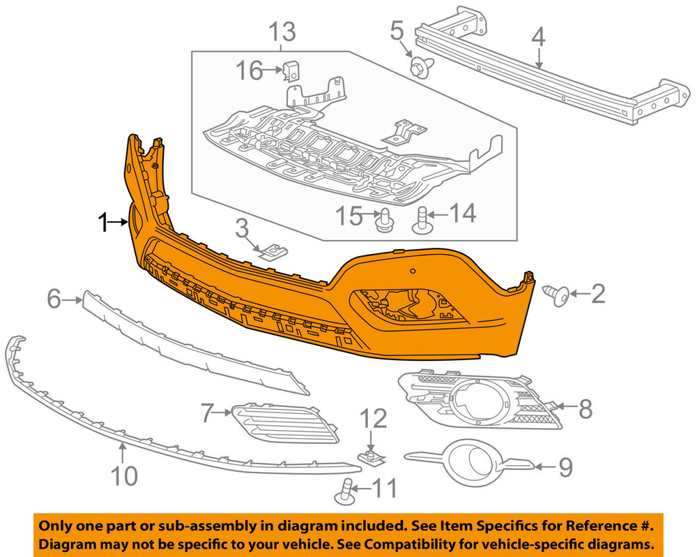 Buick GM OEM 13-16 Encore Front Bumper-Lower Cover (w/o ...
