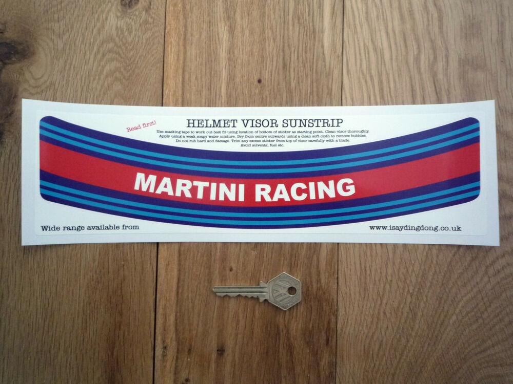 martini racing helm visier sonnenstreife aufkleber renn. Black Bedroom Furniture Sets. Home Design Ideas