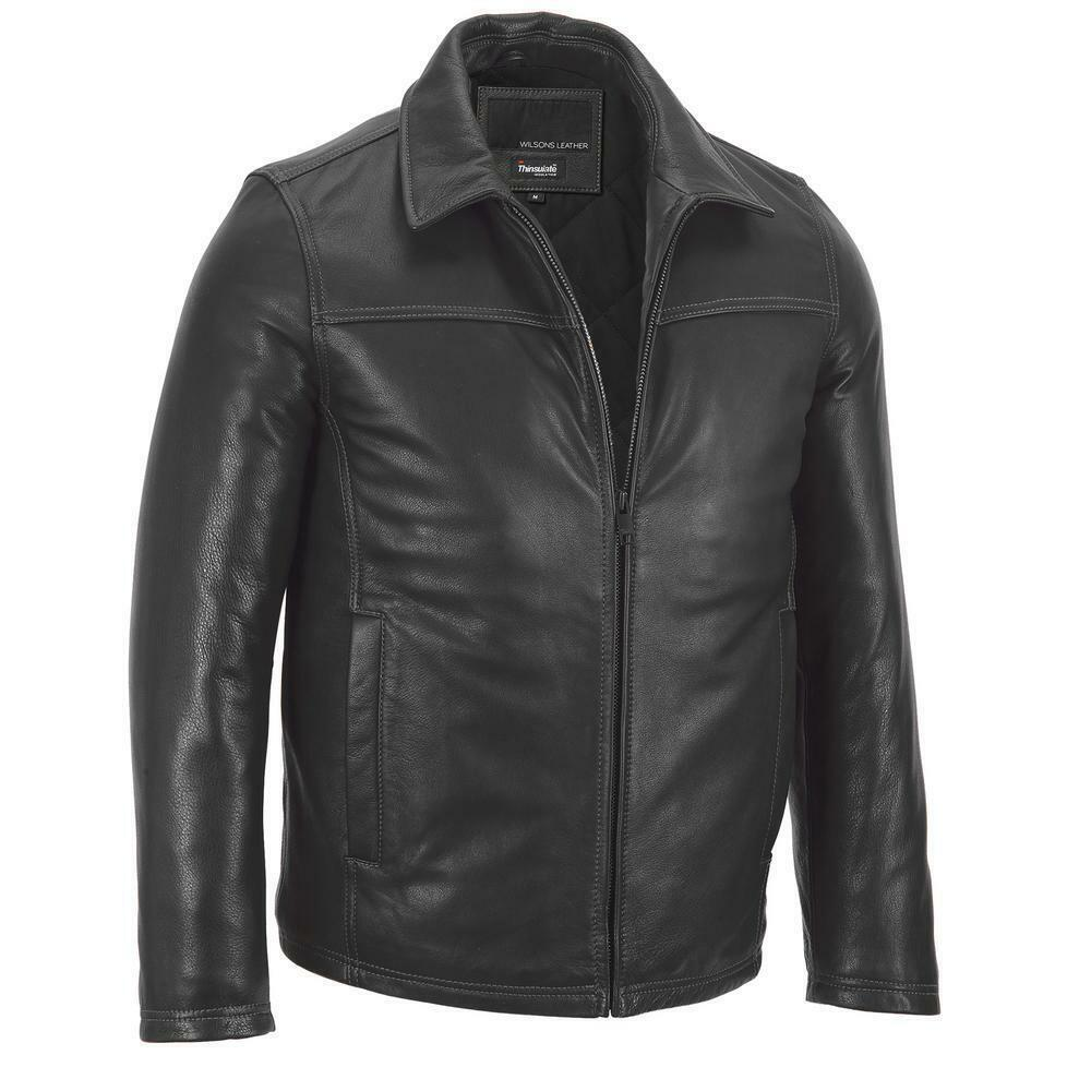 Wilsons Leather Mens Open Bottom Leather Jacket W ...