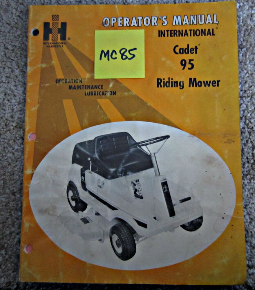cub cadet lawn mower manual