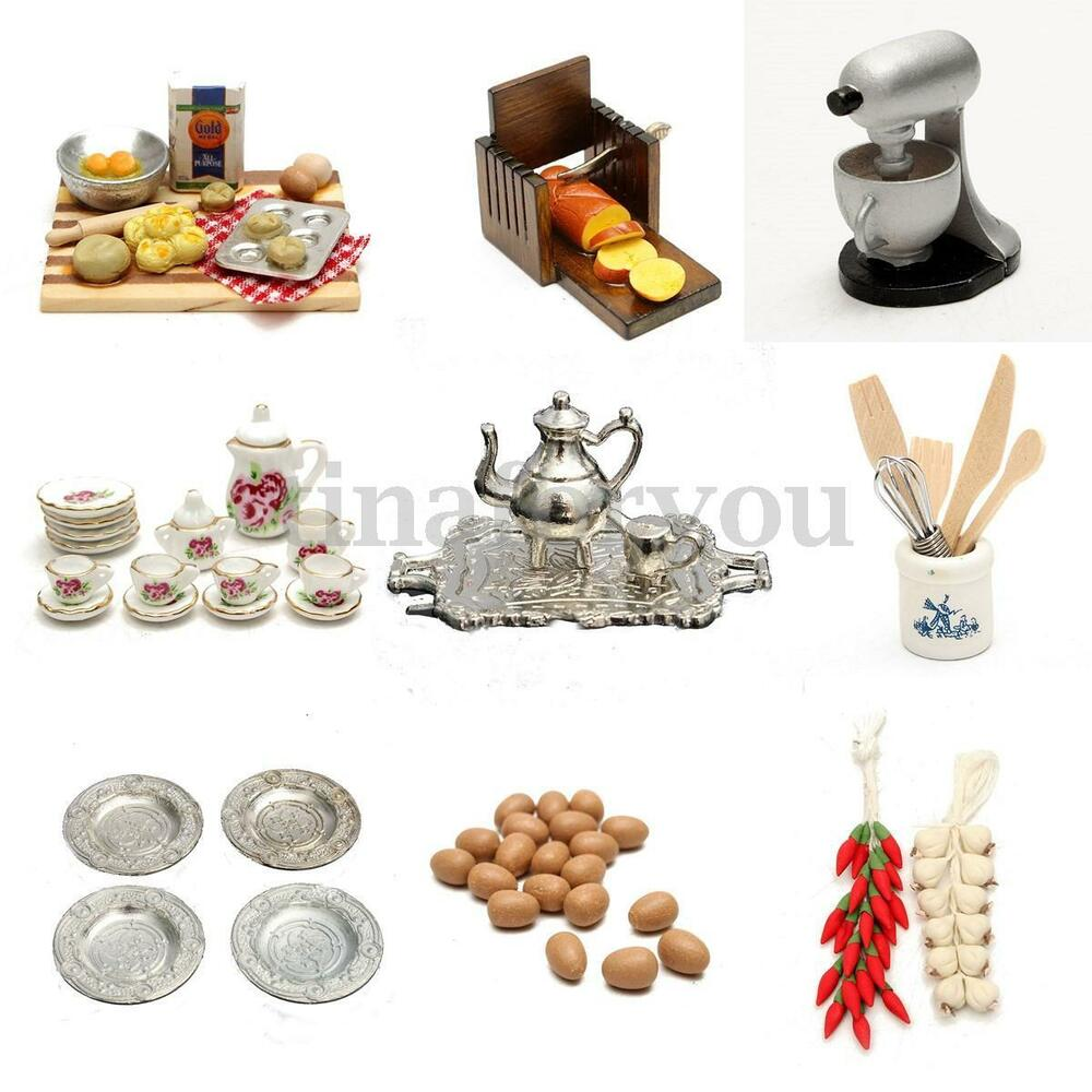 1 12 scale dollhouse miniature kitchen acessories food. Black Bedroom Furniture Sets. Home Design Ideas