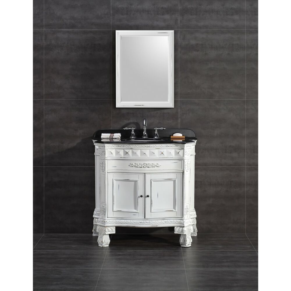 Ove Decors York  Inch Single Sink Bathroom Vanity With Granite Top