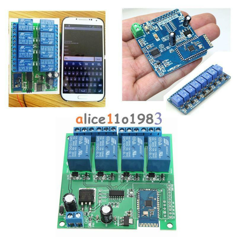 12v 4 8ch bluetooth relay android mobile remote control for Ebay motors app for android