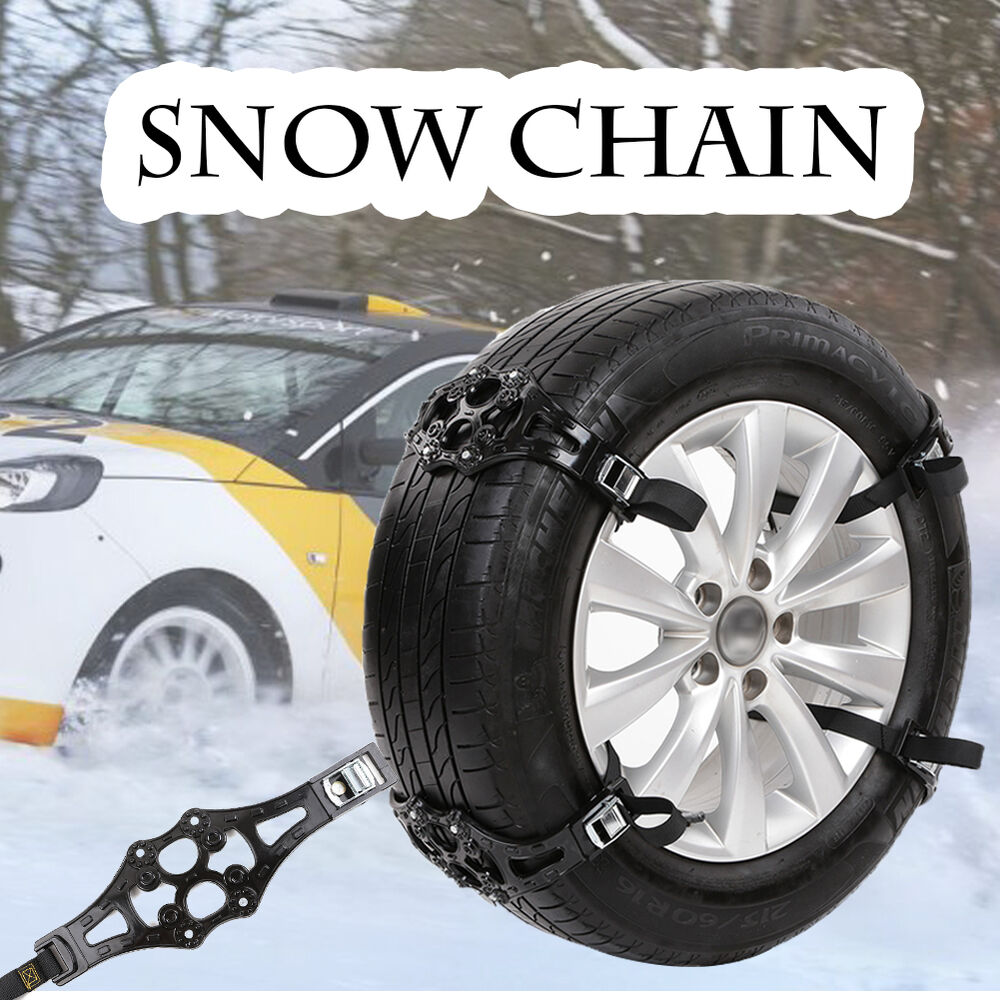 1x easy install simple winter truck car snow chain tire anti skid belt black ebay. Black Bedroom Furniture Sets. Home Design Ideas