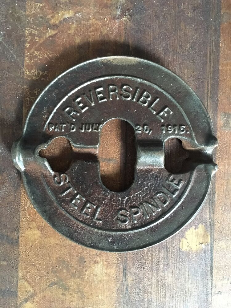 Cast In Steel : Vintage cast iron griswold in steel spindle reversible