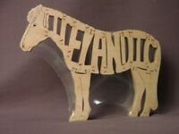 Icelandic Pony Horse Wooden Amish Made Puzzle Tack Room Toy