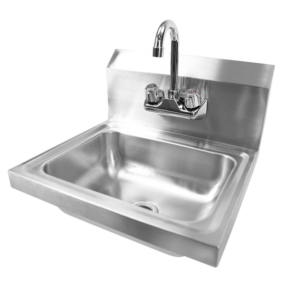 Wall Mount Hand Wash Sink Commercial Kitchen Stainless Steel Ebay
