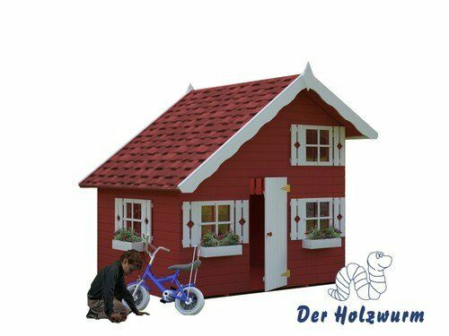 kinderspielhaus tom kinderhaus gartenhaus holz spiel haus neues kinder holzhaus ebay. Black Bedroom Furniture Sets. Home Design Ideas