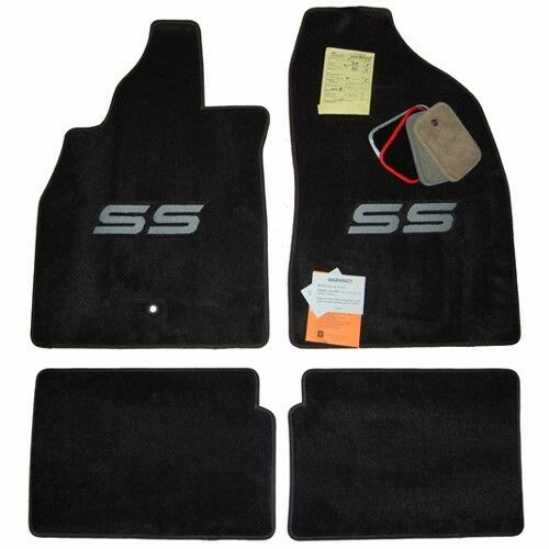 2006 2007 2008 chevrolet hhr ss custom ebony floor mats ebay. Black Bedroom Furniture Sets. Home Design Ideas